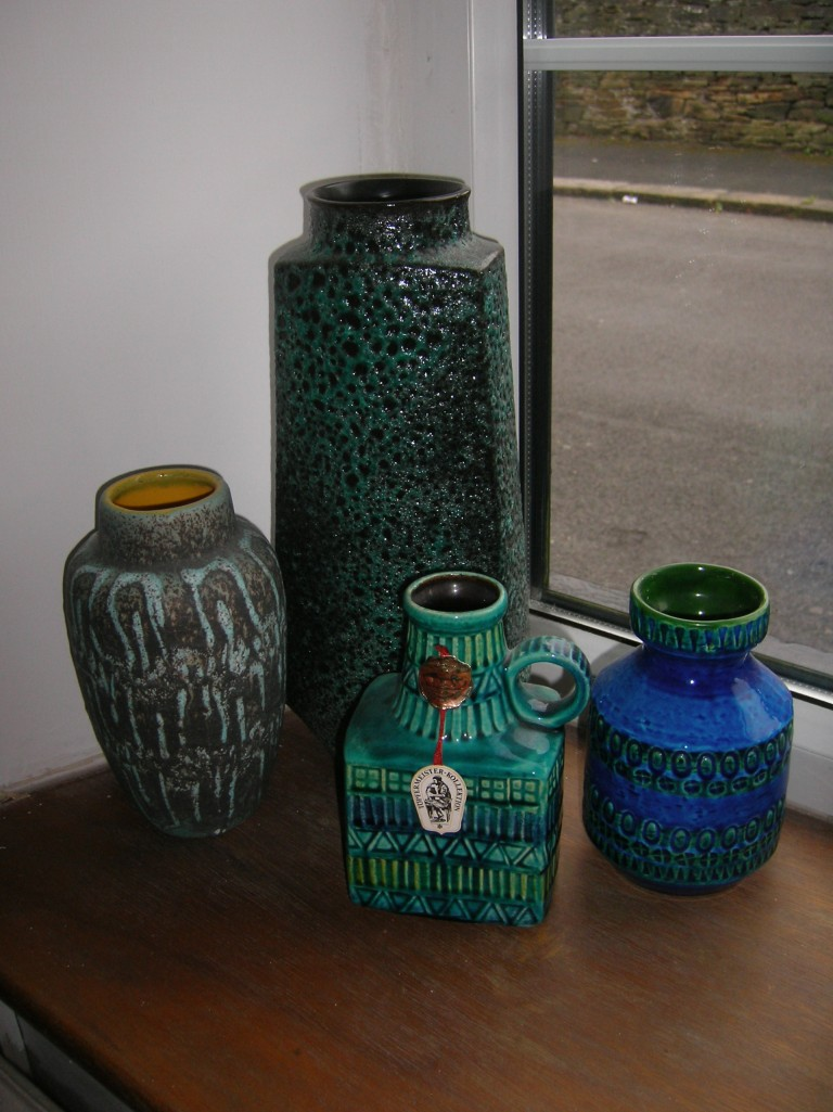 Blue and Green collection in living room