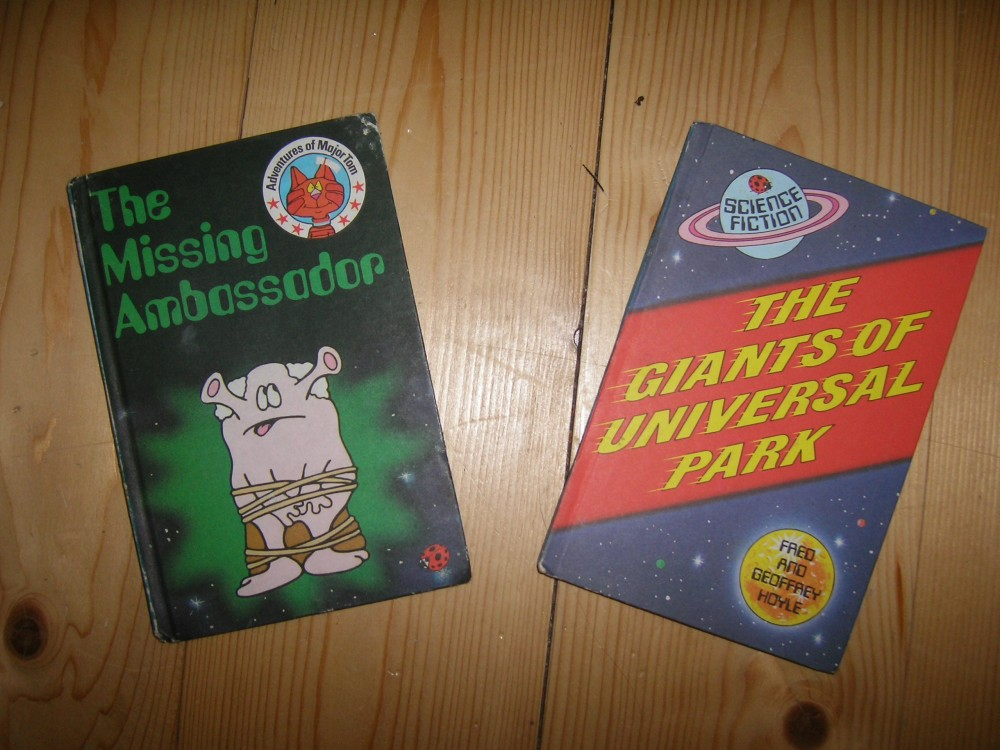 left: The Adventures of Major Tom; Right: The Giants of Universal Park (both 1982)