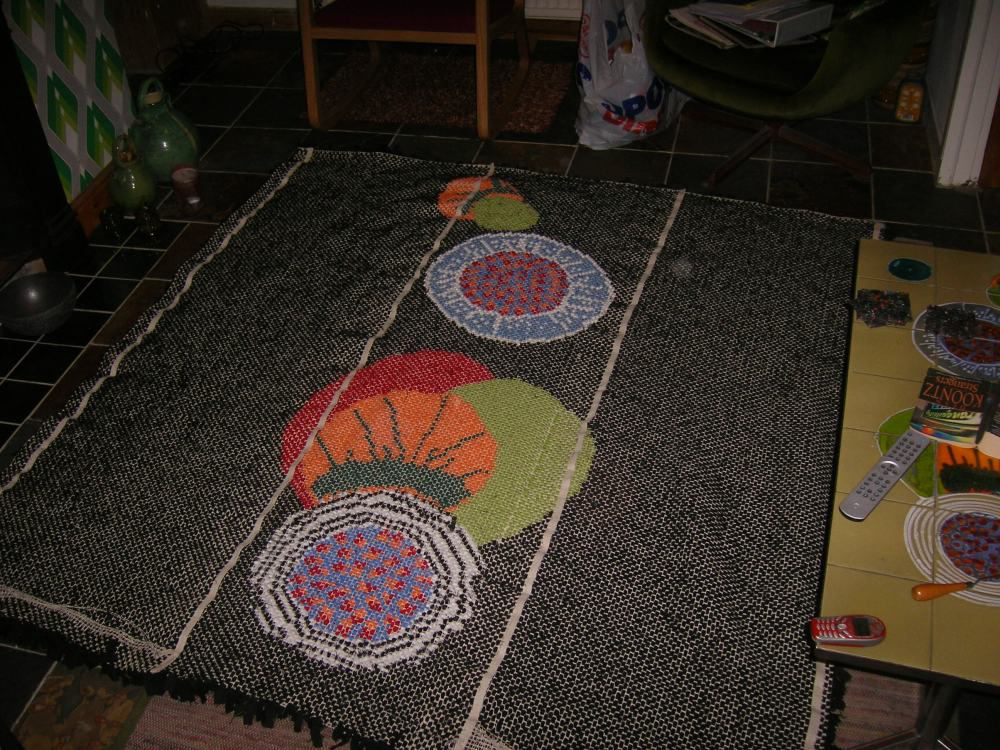 The back of the rug