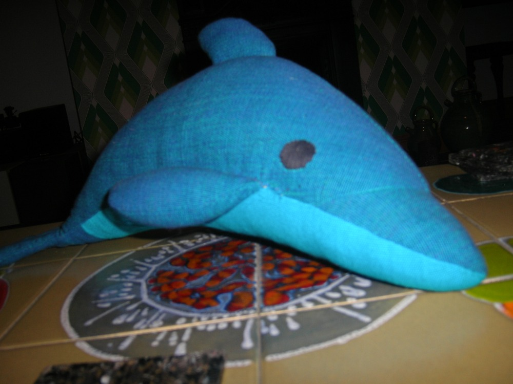 Blue dolphin - the latest stuffed addition
