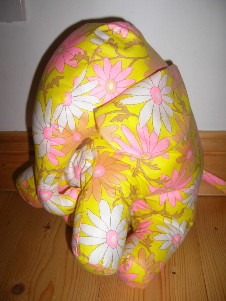 Elephant using vintage fabrics and pattern.