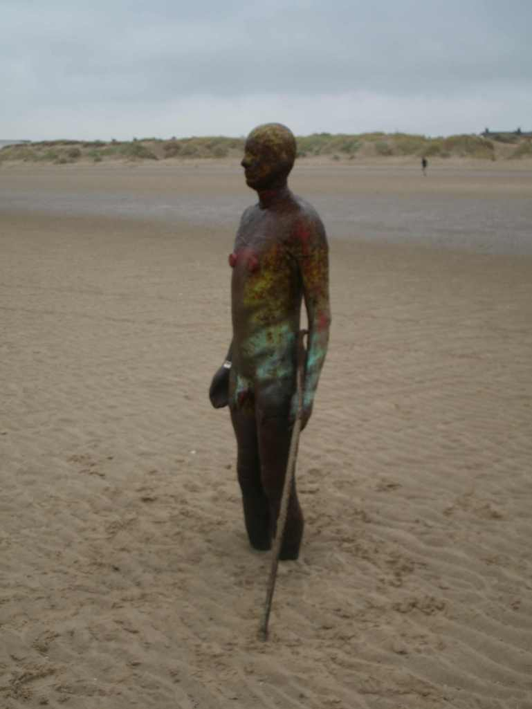 Antony Gormley's Another Place at Crosby Beach