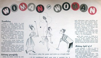 Vintage Woman's Own Magazine Letter