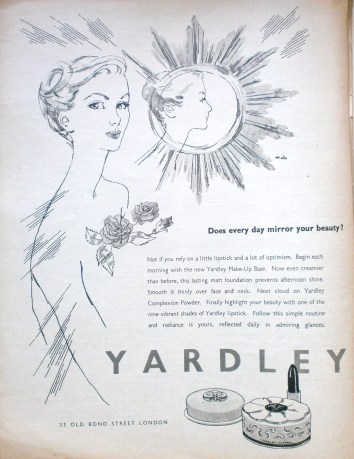 Vintage Yardley advert