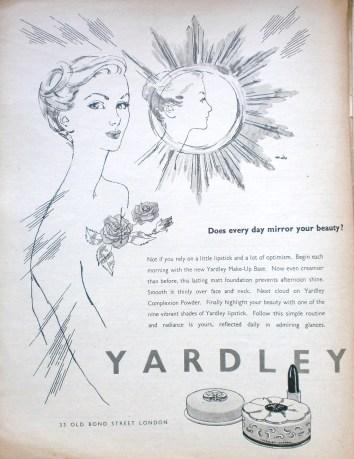 Vintage Yardley advert