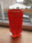 Ingrid Glas Red Bark Vase