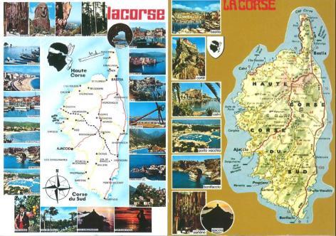 Retro Corsican postcards