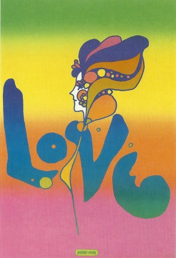 'Love' poster by Peter Max, 1967-68