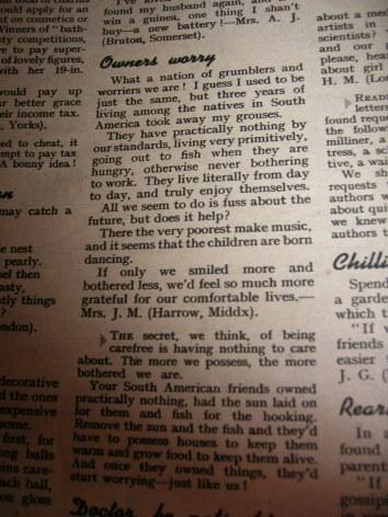 1950s Woman Magazine letter
