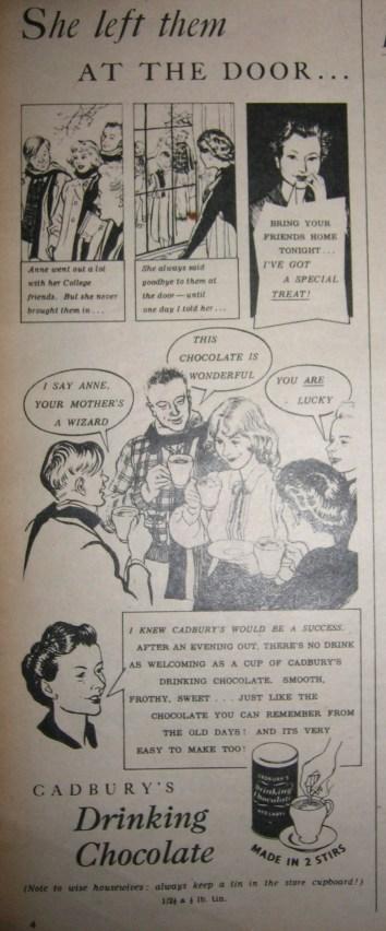1950s Cadbury's Drinking Chocolate Advert