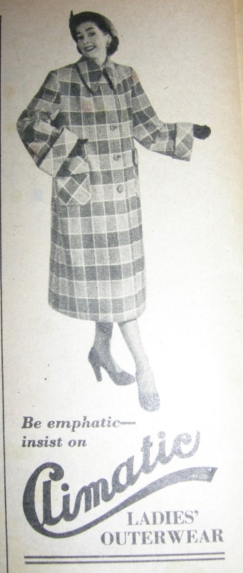 Vintage Coat Advert