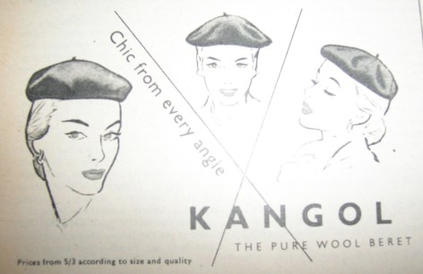 Vintage Kangol Wool Beret Advert