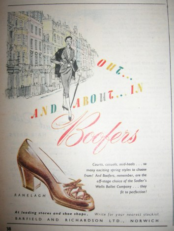 Boofers Vintage Shoe Advert