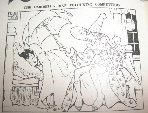 Children's Corner Colouring Competition: Umbrella Man