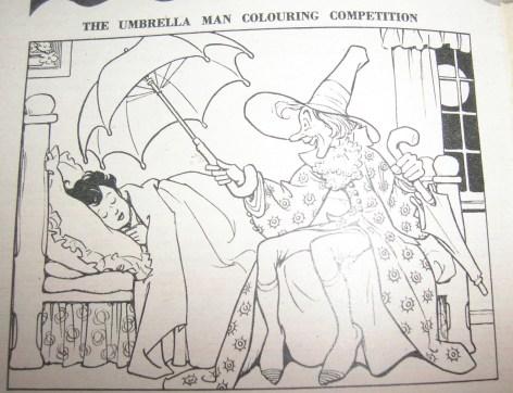 Children's Corner Colouring Competition: Umbrella Man