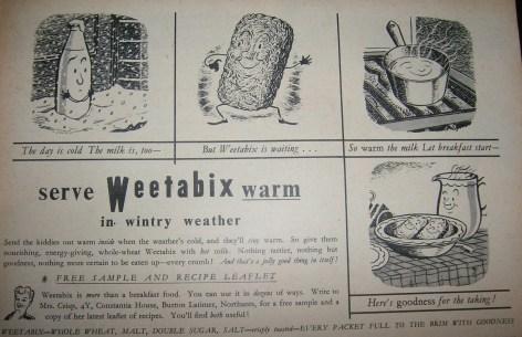 1950s Vintage Weetabix Advert