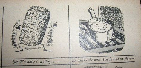 'Weetabix is waiting' vintage advert