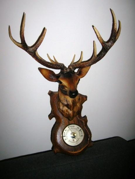 Retro Plastic Deer Barometer
