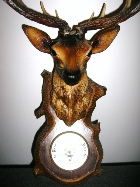 Retro deer head barometer