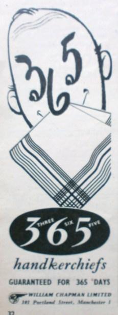 365 Handkerchief advert
