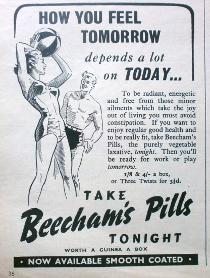 Beecham's pills advert
