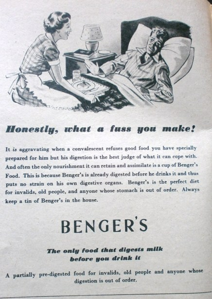 Vintage Benger's advert