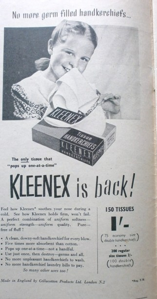 Vintage Kleenex advert