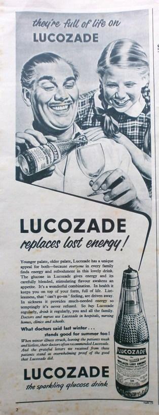 1950s Lucozade advert