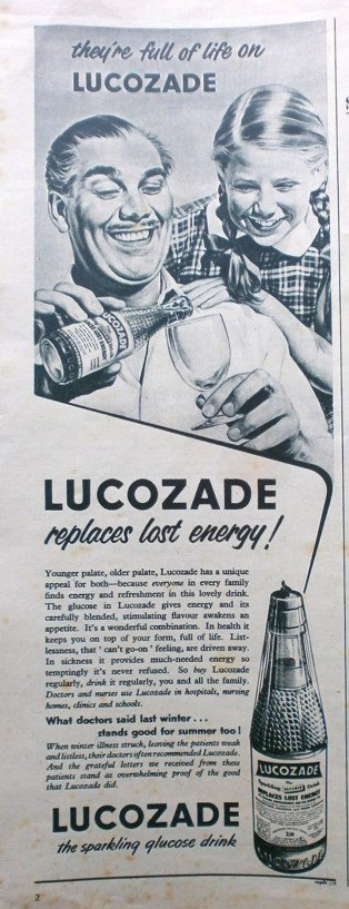 1950s Lucozade advert