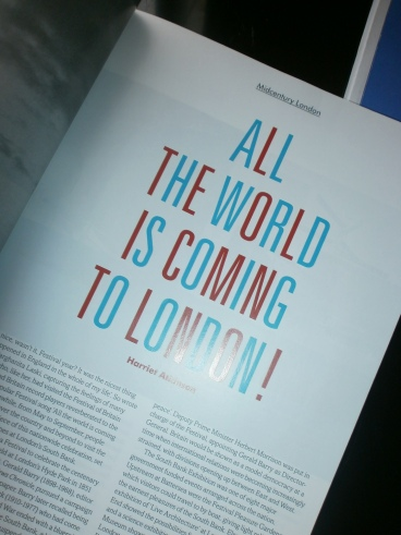 Festival of Britain article in Issue 1