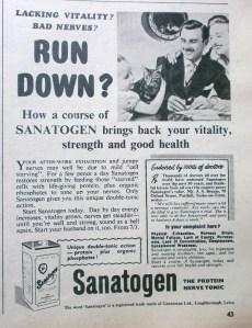 1950s Sanatogen advert