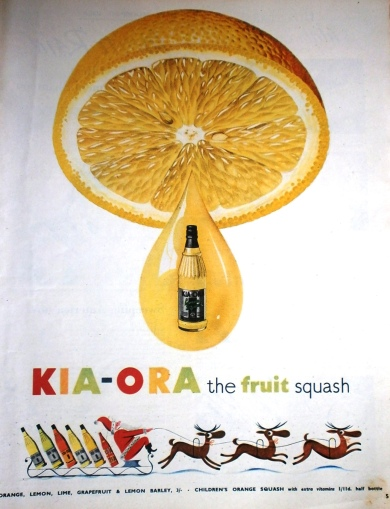 1950s Kia-Ora Fruit Squash Advert