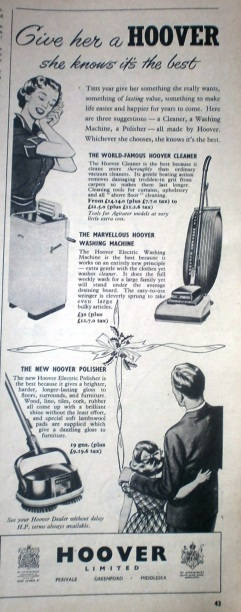 Vintage Hoover Christmas advert