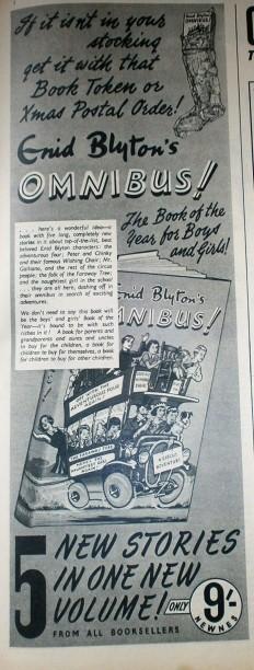 Enid Blyton Omnibus advert 1950s
