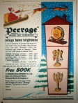 Peerage 1950s Advert