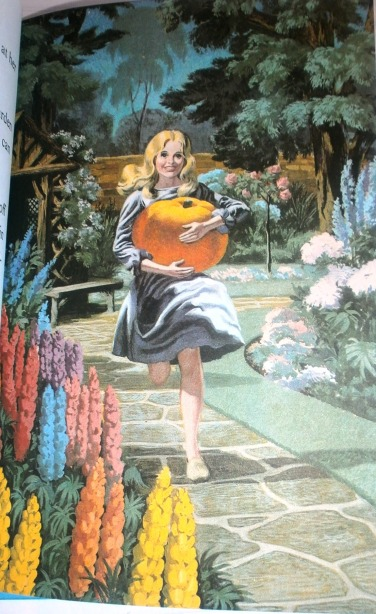 Ladybird Book Cinderella 1964 - Cinders finds the pumpkin for her coach