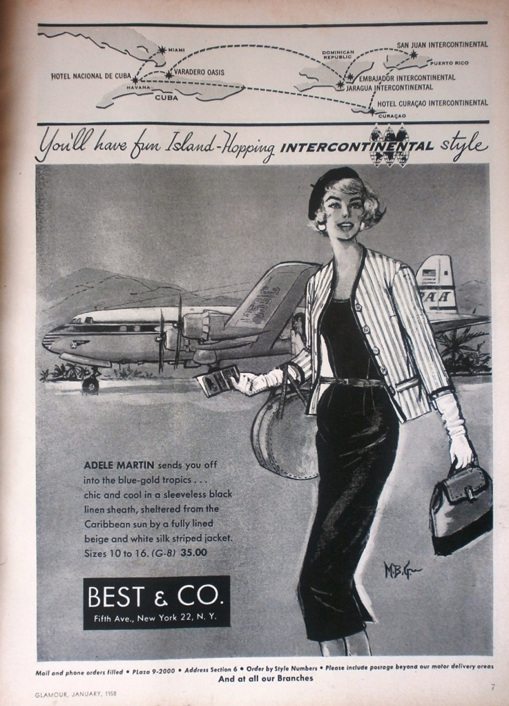 Best & Co Holiday and Travel Fashion Adverts: 1958