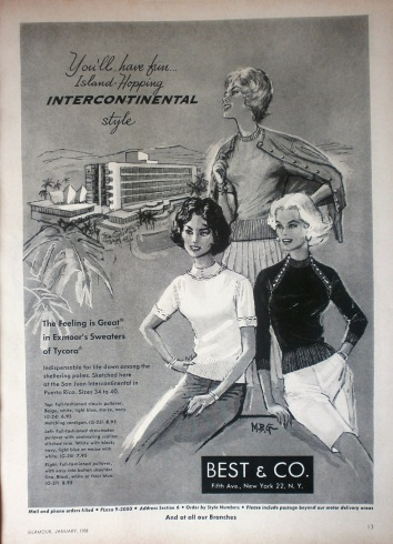 Best & Co Vintage 1950s Advert Travel Fashion
