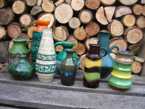 Spring Greens - West German Pottery