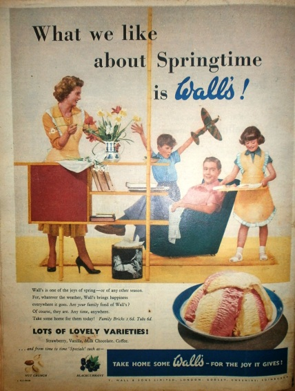 Walls 1950s advert