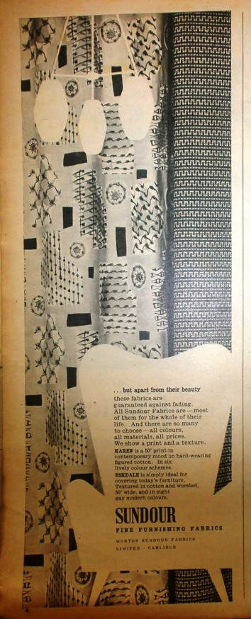 Mid Century Print Curtain