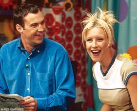 Johnny Vaughn and Denise Van Outen