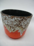 West German pottery plant pot