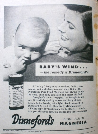1950s Dinneford's Magnesia Advert