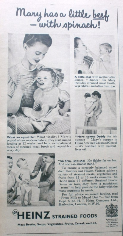 Vintage Heinz Baby Food Advert
