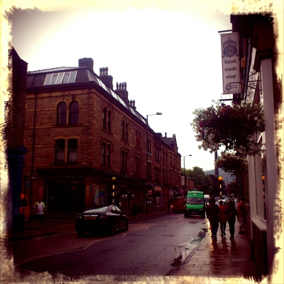 A very rainy Hebden Bridge