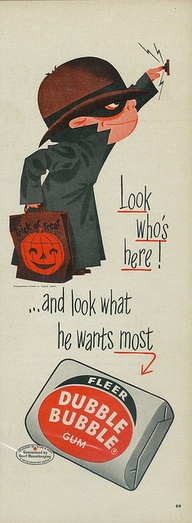 Vintage Halloween Chewing Gum advert