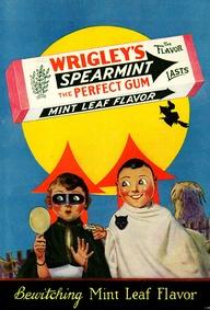 Vintage Wrigley's Gum Halloween Advert