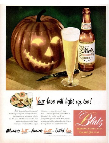 Blatz Beer Halloween Advert