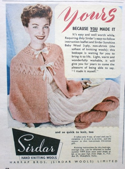 1950s Sirdar Wool advert